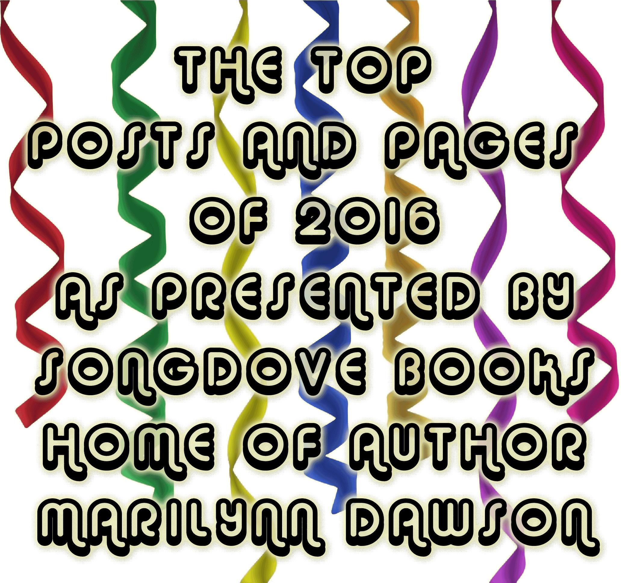 Songdove Books TOP POSTS 2016