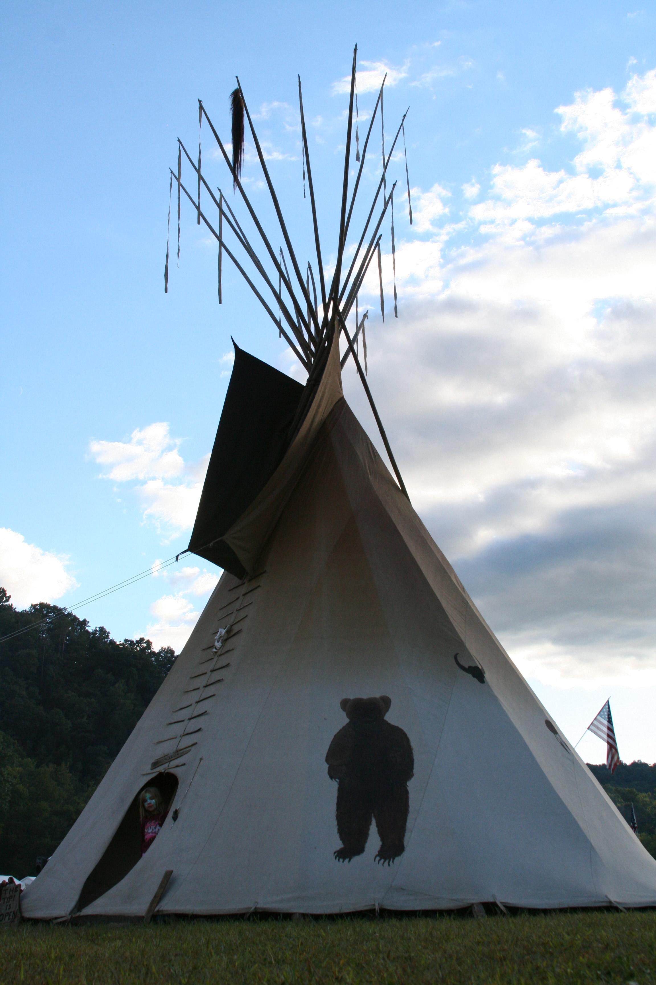 Plains native Teepee