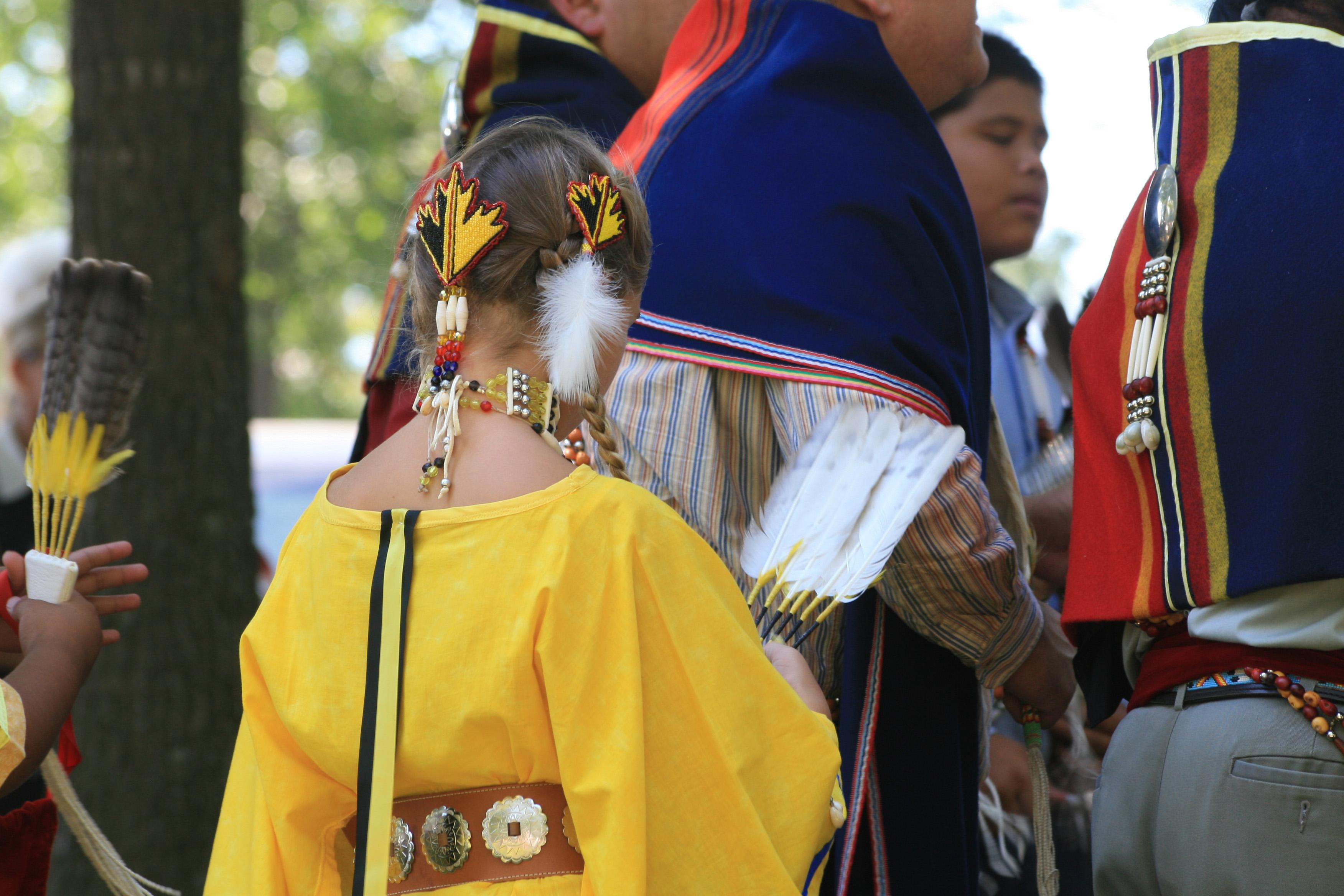 aboriginal children in ceremonial dress