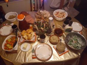 Christmas dinner courtesy of the food hamper