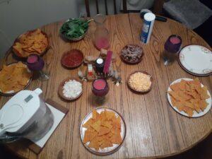 Thanksgiving nacho plate